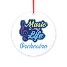 Orchestra Music Quote Ornament (Round)