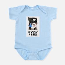 ROAD REBEL BOSTON TERRIER LOOK Infant Creeper
