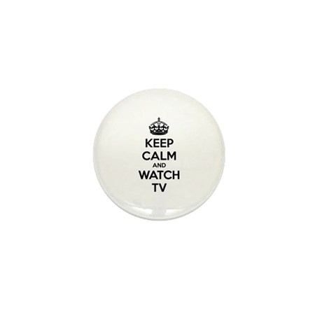 Keep calm and watch tv Mini Button