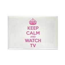 Keep calm and watch tv Rectangle Magnet