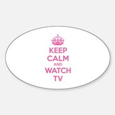 Keep calm and watch tv Decal