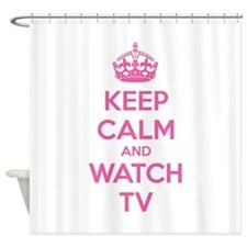 Keep calm and watch tv Shower Curtain