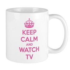 Keep calm and watch tv Small Mug