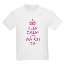 Keep calm and watch tv T-Shirt