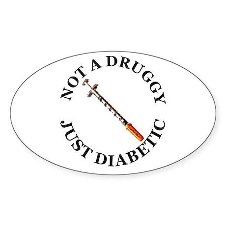 Diabetic Oval Sticker
