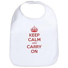 Keep calm and carry on Bib