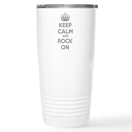 Keep calm and rock on Stainless Steel Travel Mug