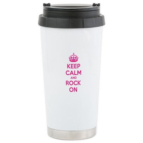 Keep calm and rock on Stainless Steel Travel Mug