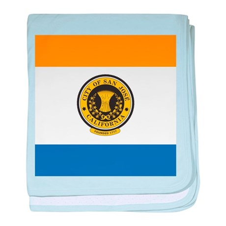 San Jose Flag baby blanket