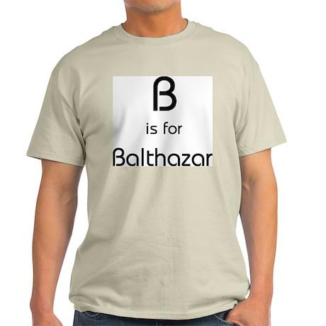 B Is For Balthazar Ash Grey T-Shirt