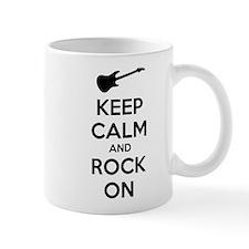 Keep calm and rock on Small Mug