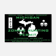 ZOMBIE HUNT PERMIT Rectangle Car Magnet