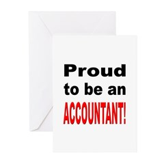Proud Accountant Greeting Cards (Pk of 10)