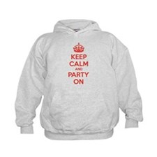 Keep calm and party on Hoodie