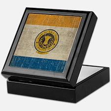 Vintage San Jose Flag Keepsake Box