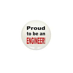 Proud Engineer Mini Button