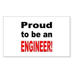 Proud Engineer Rectangle Decal