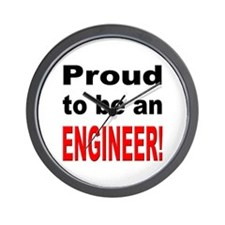 Proud Engineer Wall Clock