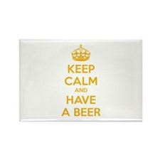 Keep calm and have a beer Rectangle Magnet (100 pa