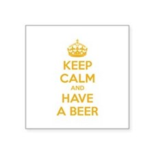 "Keep calm and have a beer Square Sticker 3"" x 3"""