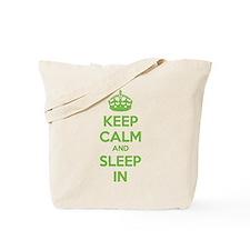 Keep calm and sleep in Tote Bag