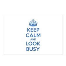 Keep calm and look busy Postcards (Package of 8)