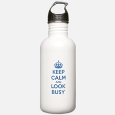 Keep calm and look busy Water Bottle
