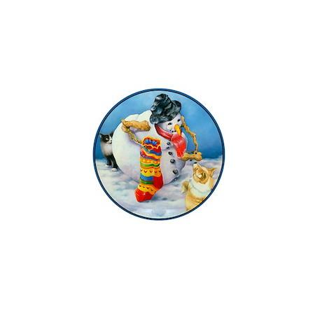 Corgi Art Mini Button