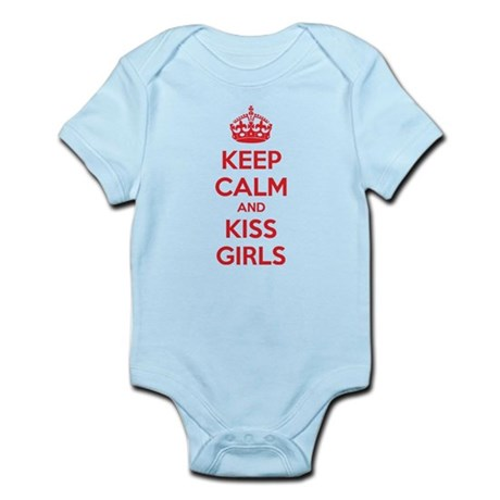 Keep calm and kiss girls Infant Bodysuit