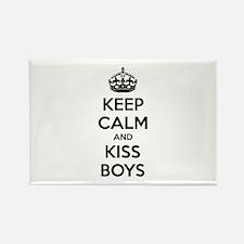 Keep calm and kiss boys Rectangle Magnet