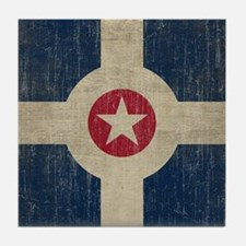 Vintage Indianapolis Flag Tile Coaster
