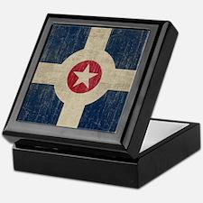 Vintage Indianapolis Flag Keepsake Box