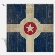 Vintage Indianapolis Flag Shower Curtain