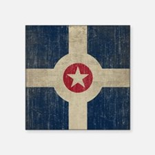 "Vintage Indianapolis Flag Square Sticker 3"" x 3"""