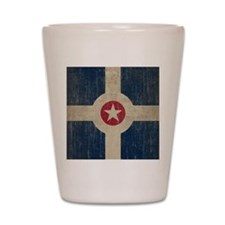 Vintage Indianapolis Flag Shot Glass