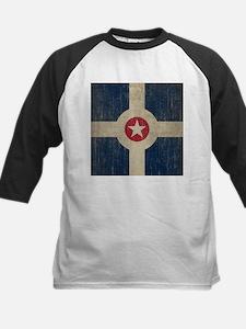 Vintage Indianapolis Flag Kids Baseball Jersey