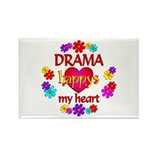 Happy Drama Rectangle Magnet (100 pack)
