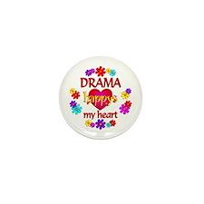 Happy Drama Mini Button