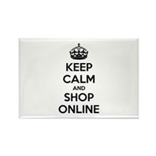 Keep calm and shop online Rectangle Magnet