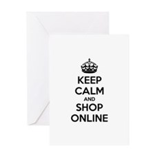 Keep calm and shop online Greeting Card