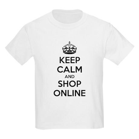 Keep calm and shop online Kids Light T-Shirt