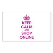 Keep calm and shop online Decal