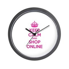 Keep calm and shop online Wall Clock