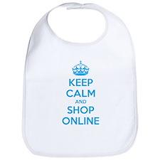Keep calm and shop online Bib