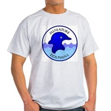 Miniature Dolphins Ash Grey T-Shirt