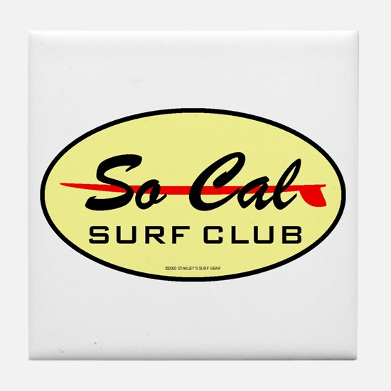 So Cal Surf Club 1 Tile Coaster