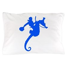 Blue Seahorse Rodeo Pillow Case