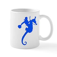 Blue Seahorse Rodeo Mug