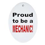 Proud Mechanic Oval Ornament