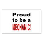 Proud Mechanic Rectangle Sticker